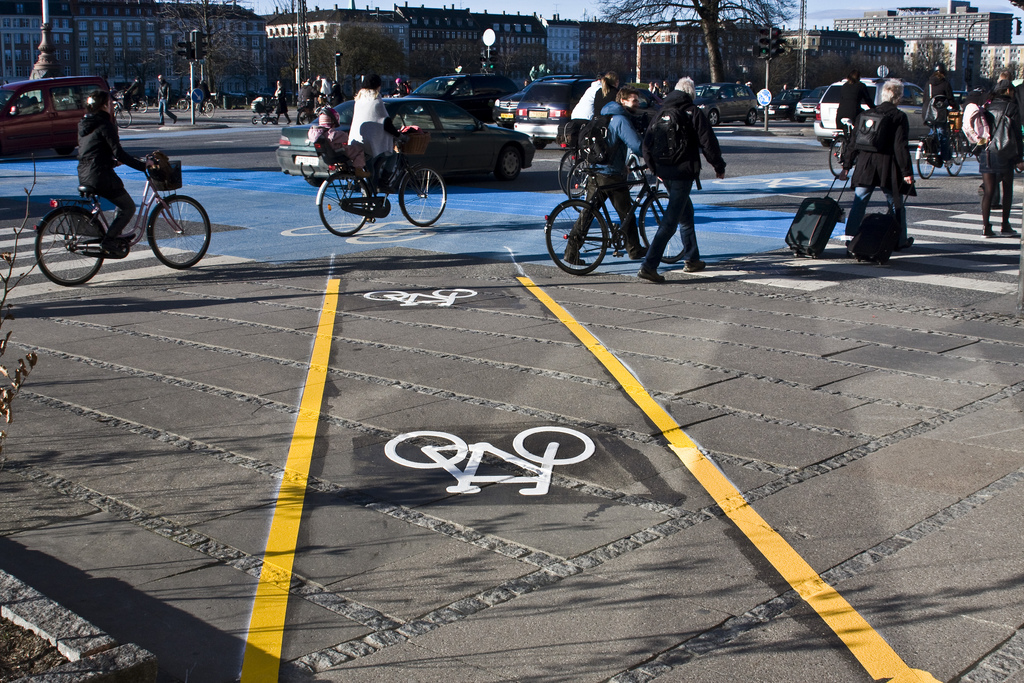 A desire line in Copenhagen made permanent