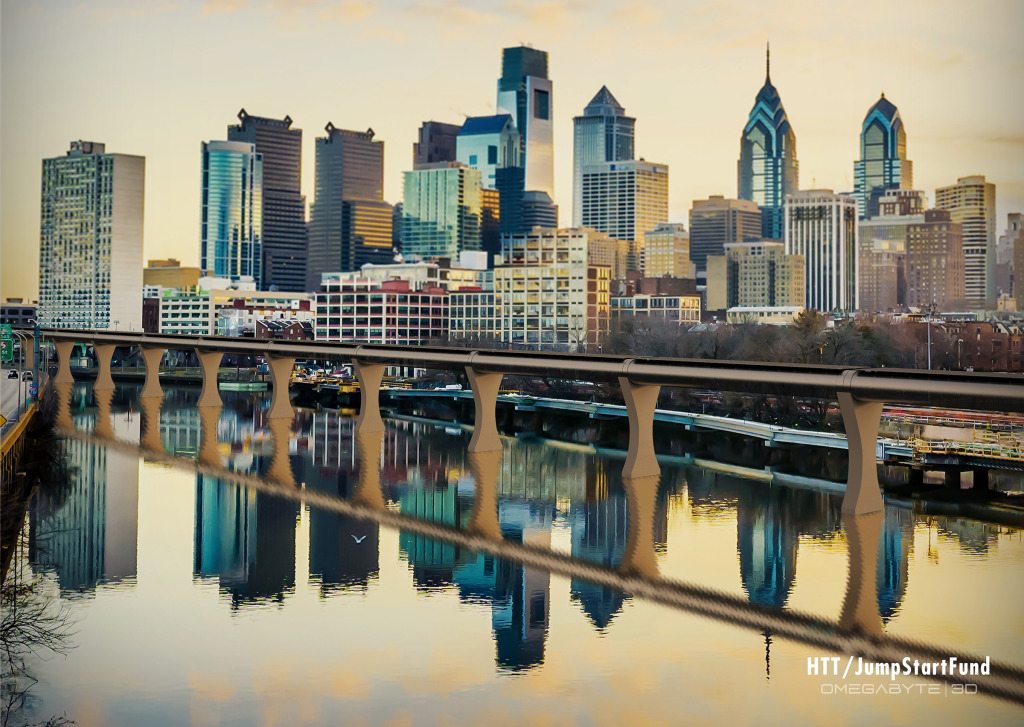 Hyperloop concept art (Philadelphia)