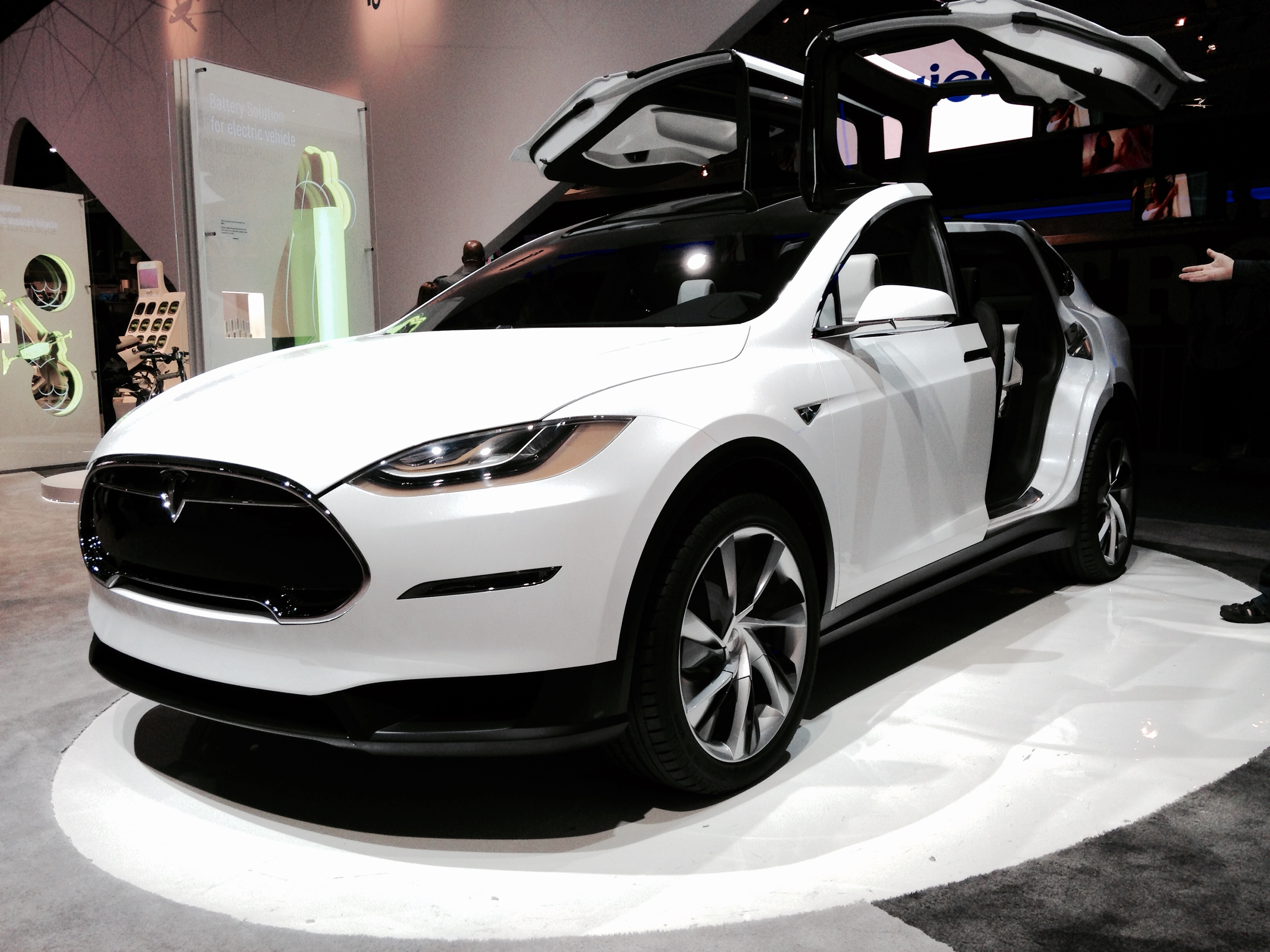 Tesla Model X, with its gullwing doors
