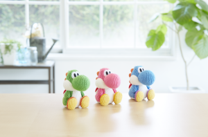 The Yarn Yoshi Amiibo. OMG. Just LOOK AT THEM!
