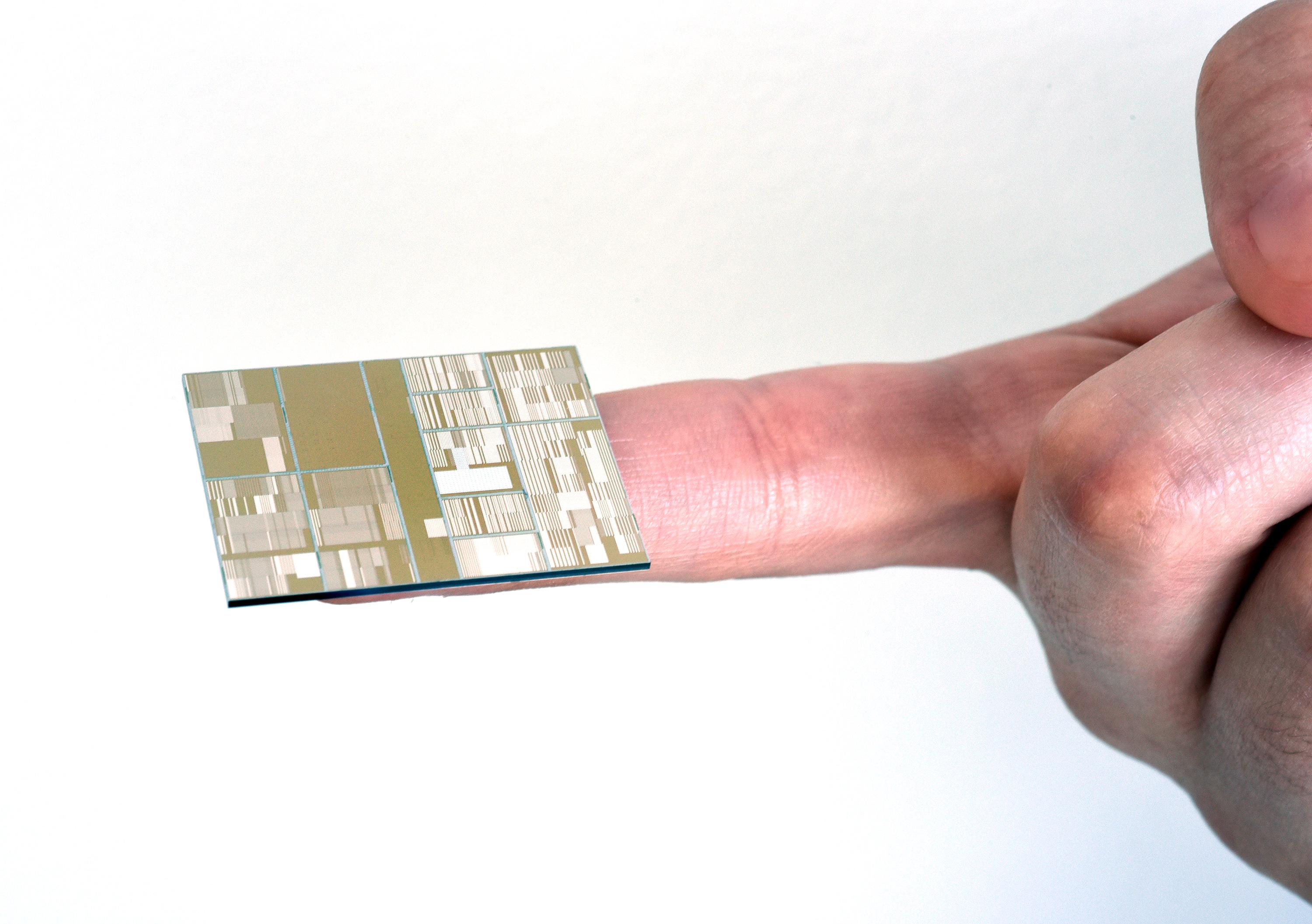 One of the 7nm test chips, created by IBM/SUNY
