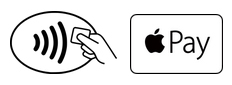 You should be able to use Apple Pay anywhere you see these two symbols.