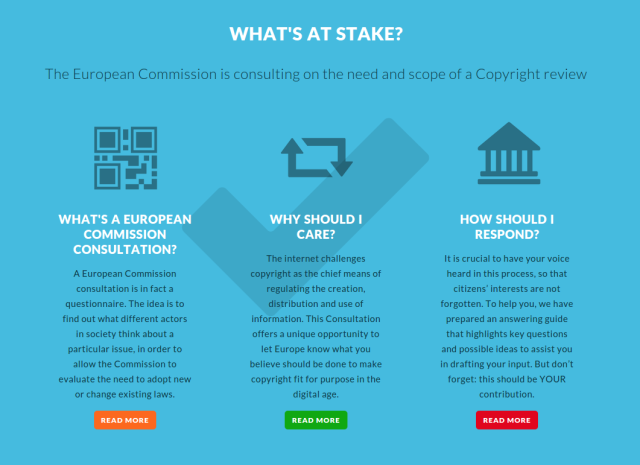 fixcopyright.eu was set up to help the public respond to the EU copyright consultation.