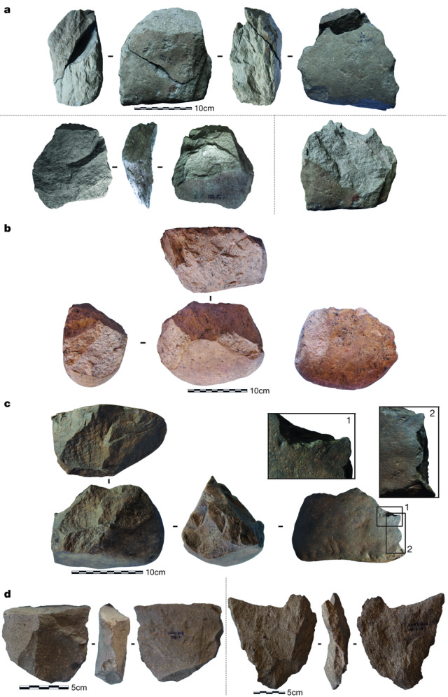 Some of the stone tools from Lomekwi.