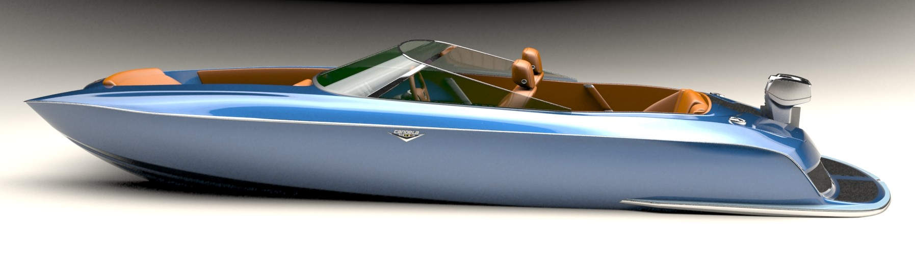 The Candela motorboat. This is a computer render...