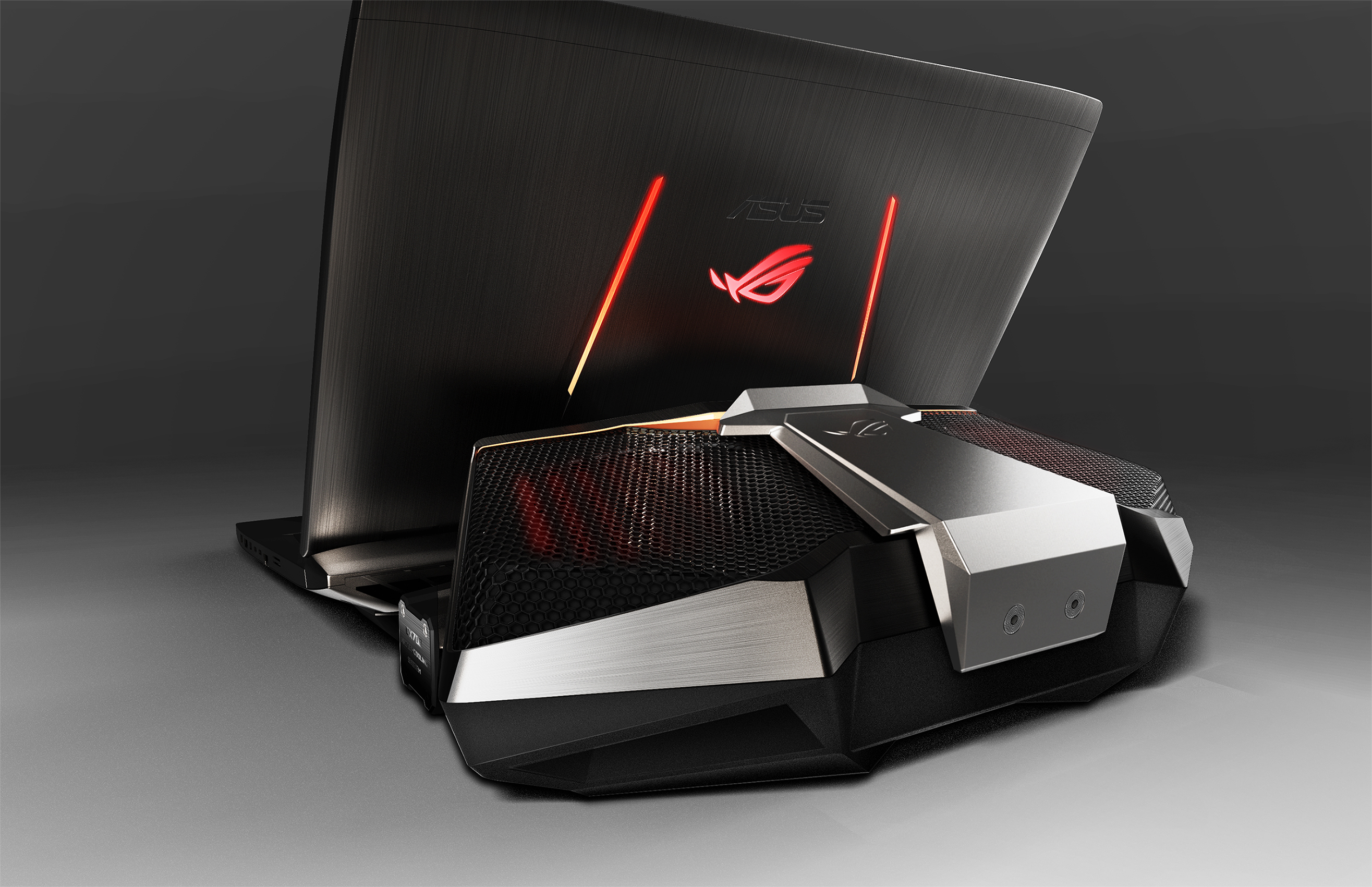 The crazy GX700VO water-cooled laptop from Asus.
