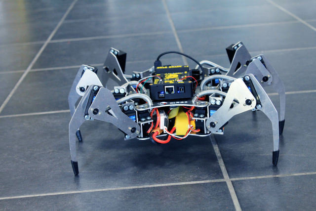 Erle Robotics' six-legged Linux-based spider.