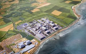 Another render of Hinkley Point C, from above.