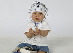 It's a baby in an EEG!