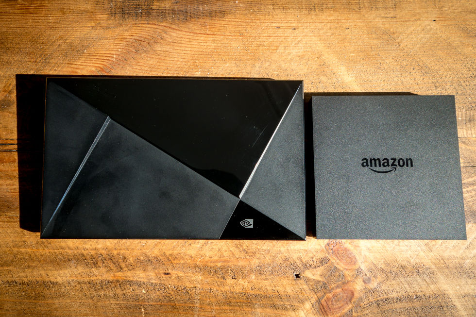 The Shield next to the new Amazon Fire TV.