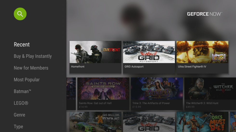 GeForce Now's game selection isn't a strong point.