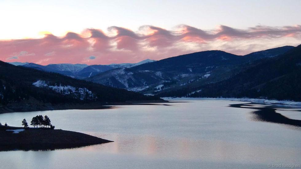 Kelvin-Helmholtz wave clouds.