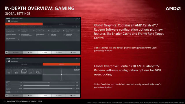 AMD Radeon Software Crimson: A new name and a new look for