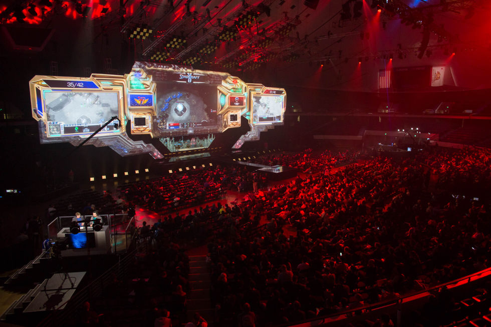 The main stage of the World Championship Series at Blizzcon.
