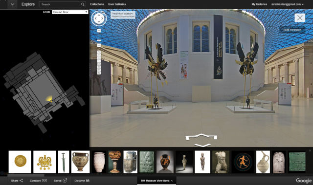 The British Museum, as seen through Google Street View.