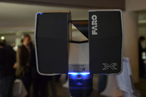 """3D scanners like this one can now fit in your backpack. This Faro model is one of the best scanners on the market, but the price is still very much """"available on request."""" On specialist forums, its value is estimated at around 30,000 euros."""