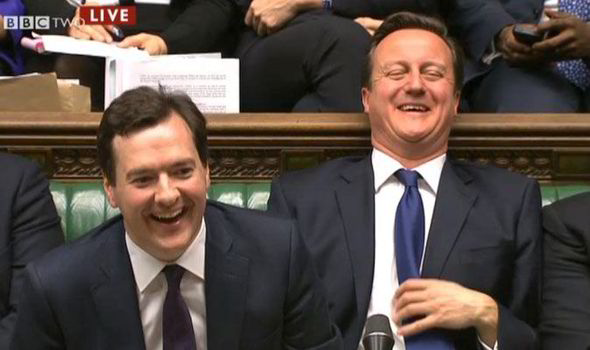 The UK's Chancellor and Prime Minister, George Osborne and David Cameron.