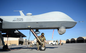 One of the RAF's Reaper drones.