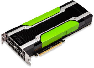 An Nvidia Tesla graphics card.