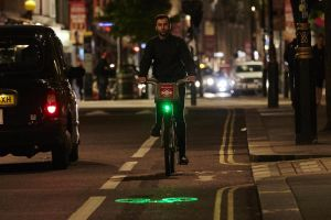 250 Boris bikes currently have a green laser projector on the front.
