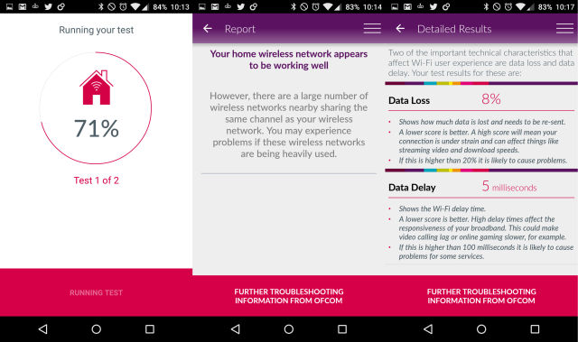 The Ofcom app doesn't provide the most useful information.