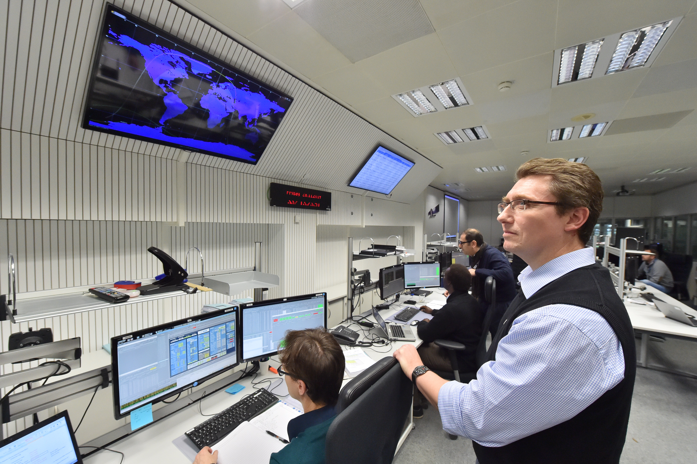 ESA's Space Operations Centre, ESOC, in Darmstadt, Germany