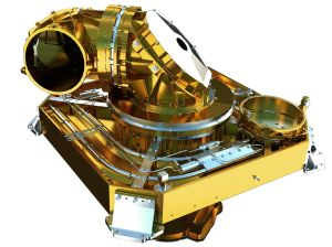 The laser communications terminal that sits on the EDRS satellite.