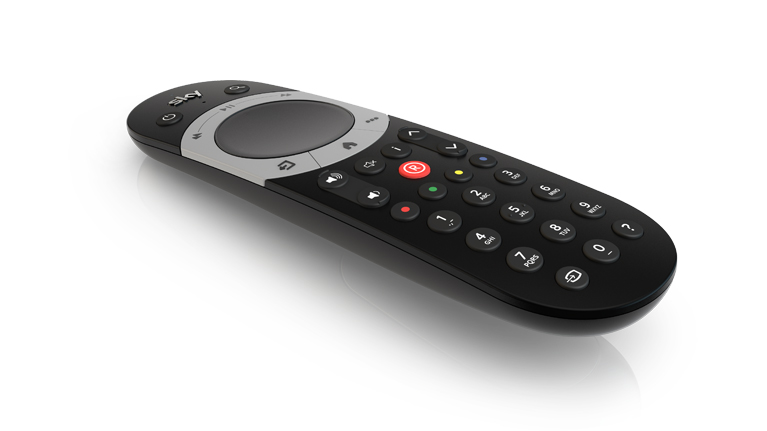 The new Sky Q remote.