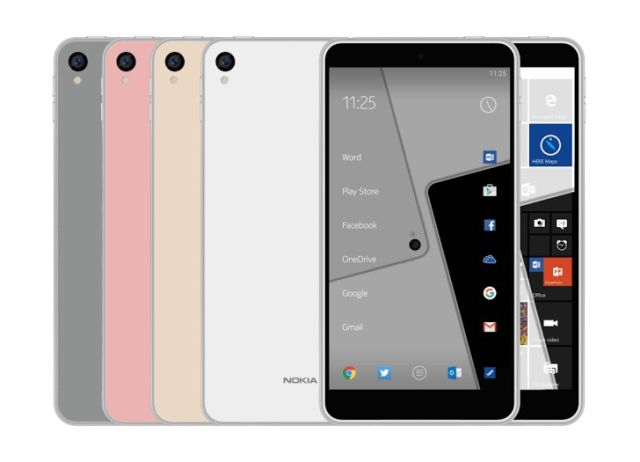 An alleged render of Nokia's rumoured C1 smartphone