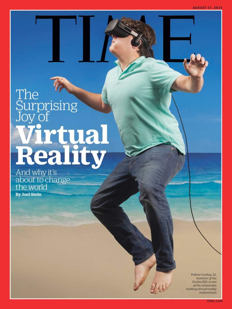 Luckey on the cover of Time in 2015.
