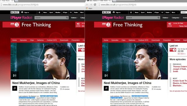 The BBC getting the Internet and the WWW mixed up. The wording was changed rather quickly.