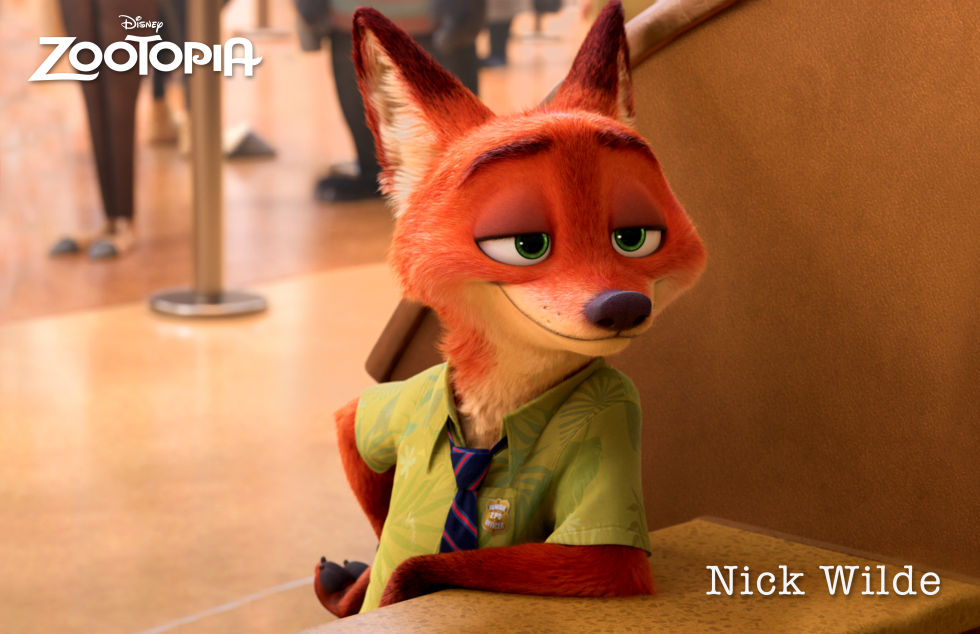The roguish Nick Wilde