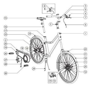 Assembly manual for IKEA's Sladda bicycle