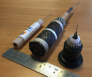 One last photo of some submarine cable segments...