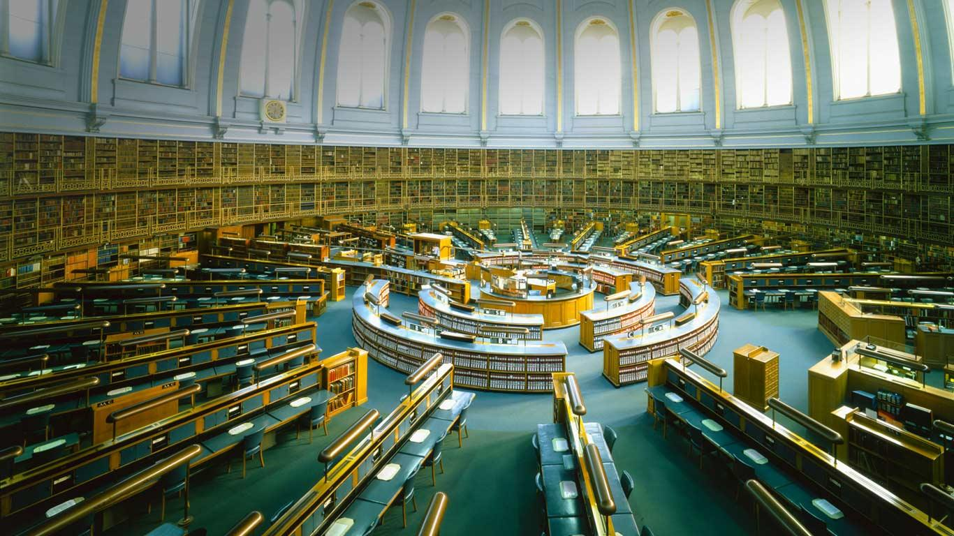 The old reading room/library at the British Museum.