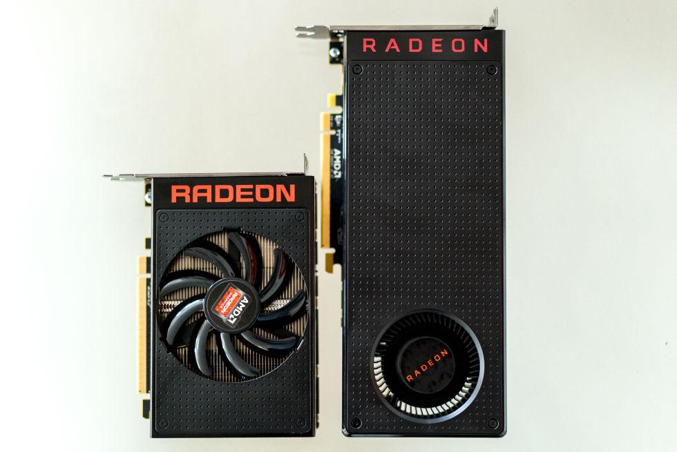 The R9 Nano (left) and RX 480.