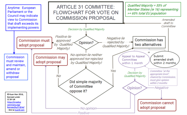Flowchart shows Article 31 group's decision-making process.