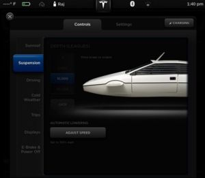 Model S firmware Easter egg: turn a picture of your car into a submersible Lotus Esprit.