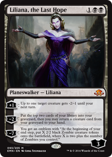 Three-mana planeswalkers like Liliana often see play in Constructed formats.