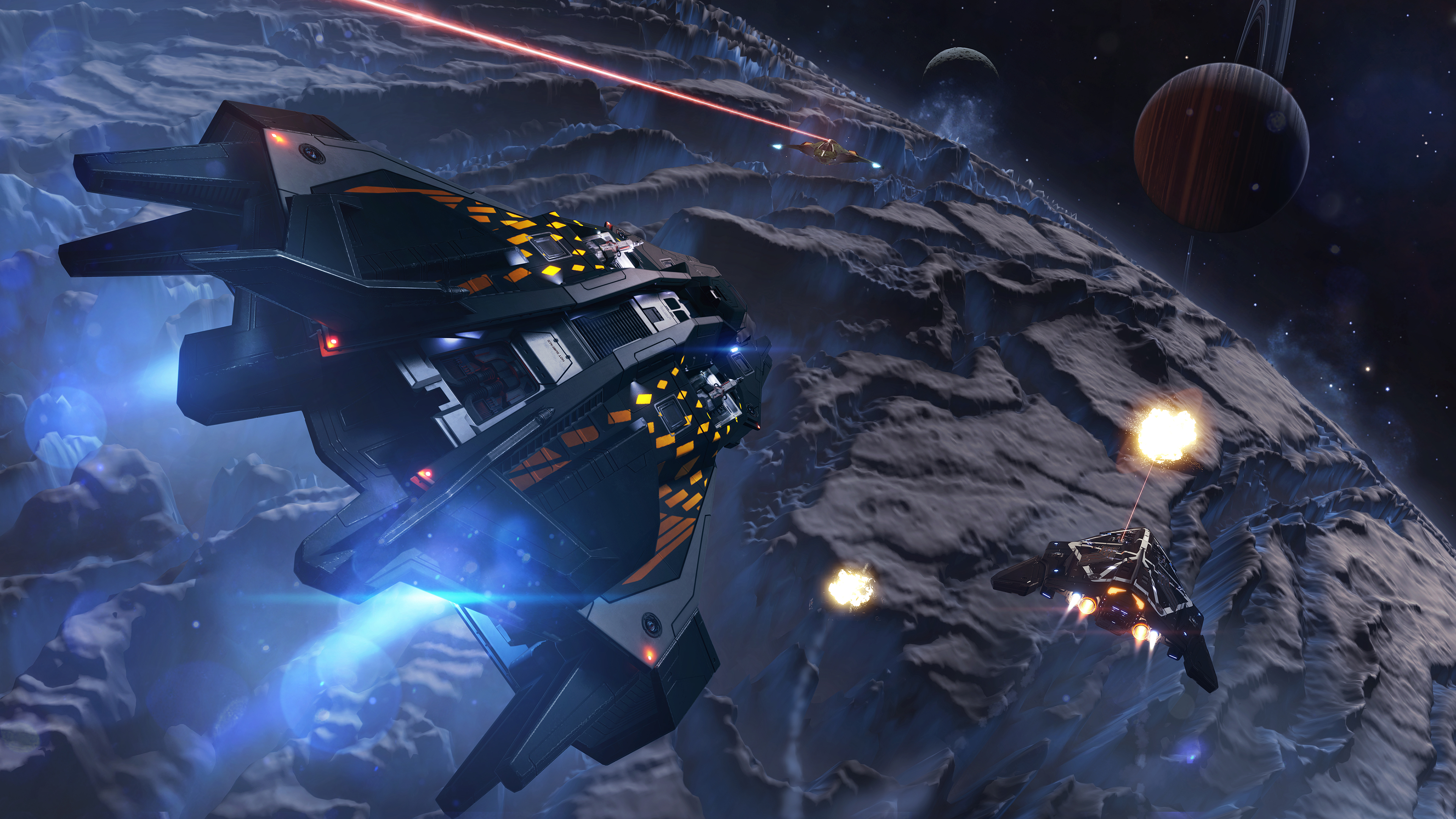 You'll be able to deck your ships and fighters out in a range of different colours too.