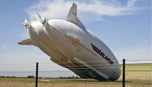 The nosedived blimp.