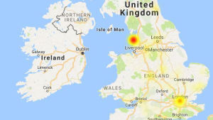 A map of recent EE network issues here in the UK.
