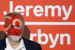 Labour leader Jeremy Corbyn at the launch of his Digital Democracy Manifesto on August 30.