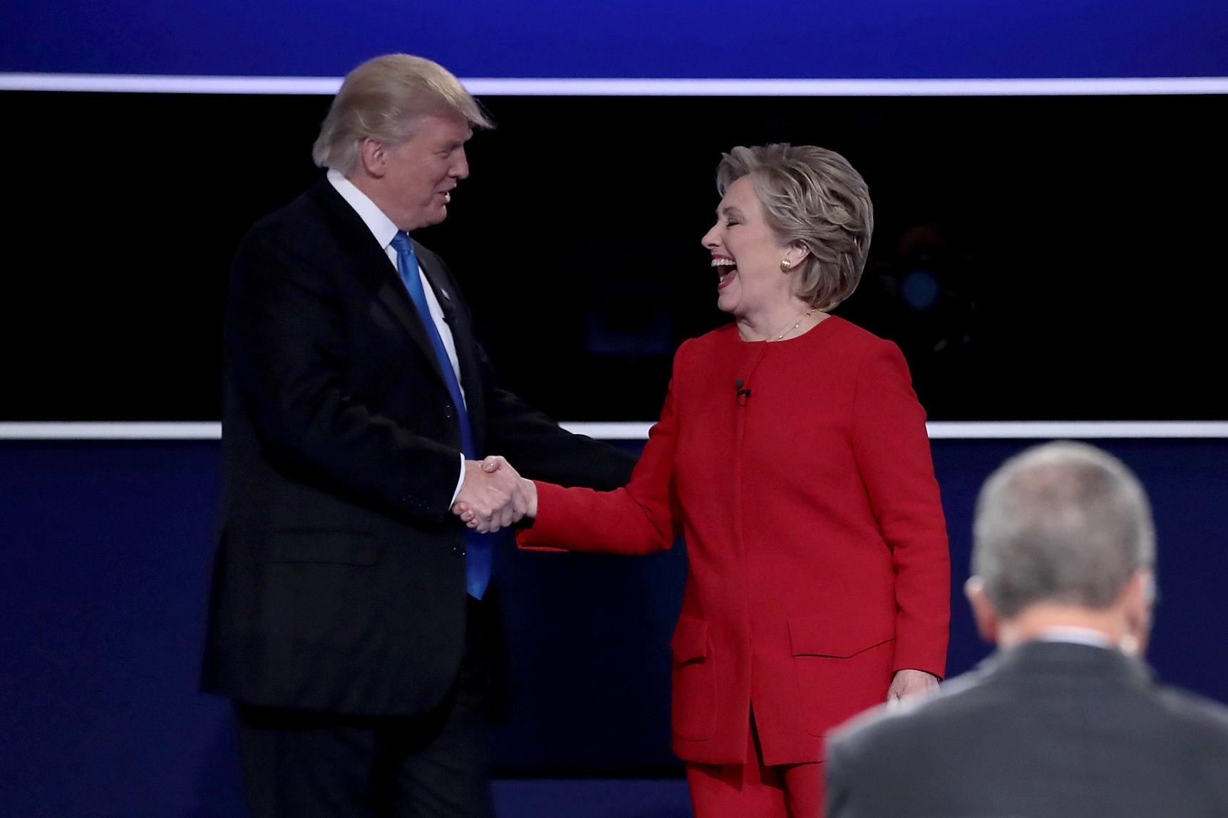 Hillary Clinton and Donald Trump during the bruising US presidential campaign when plenty of barbs were exchanged.