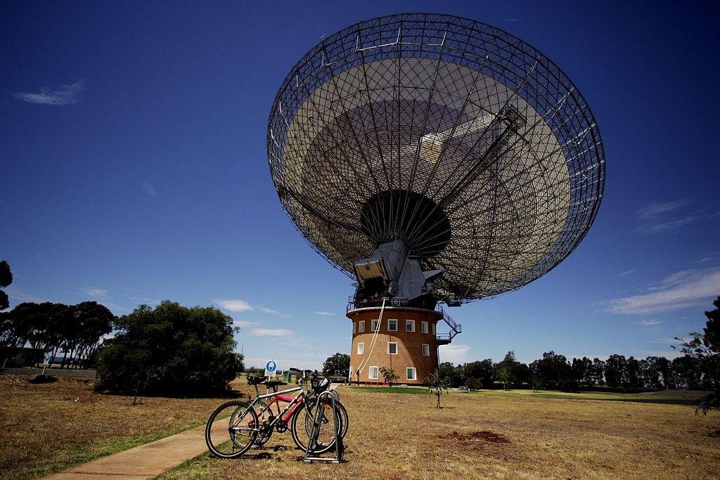 A satellite dish at the Parkes Observatory (in Australia, not the UK).