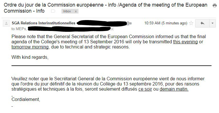 European commissions copyright cover up will finally end tomorrow ive never seen the commission act this erratically before said pirate party mep julia reda the dates of major legislative reforms are always known ccuart Choice Image