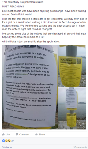 A poster seen in Plymouth...