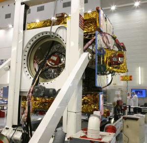 One of Eutelsat's Ka-band satellites, still in the lab.