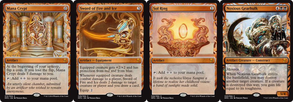 <em>Kaladesh</em> includes Inventions: a super-rare super-set of cards outside of the standard <em>Kaladesh</em> set.