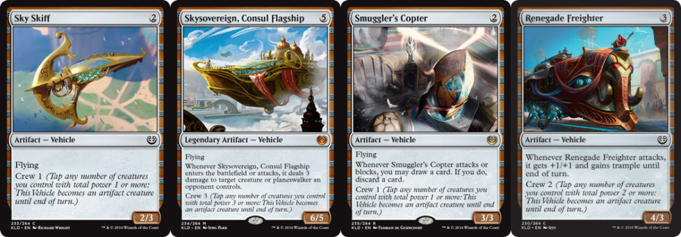 A selection of vehicles from <em>Kaladesh</em>.